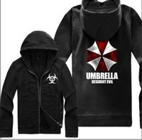 2013 Autumn New Umbrella Resident Evil Fleece Hooded Sweater Jacket Zipper, Free Shipping