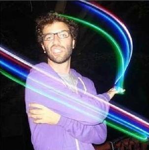 Colorful laser light finger 7g