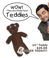 Free shipping 25cm Mr Bean Teddy Bear Animal Stuffed Plush Toy Brown Figure Doll Child Christmas Gift Toys