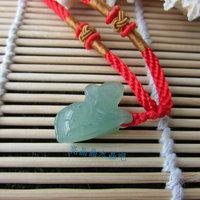 Aventurine jade zodiac pendant necklace