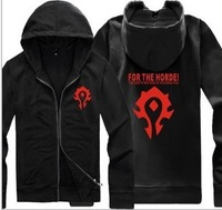 2013 Winter New Models Cardigan Wow World Of Warcraft Horde Logo Zipper Sweater Coat, Free Shipping