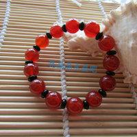 Red agate black agate bracelet birthday gift girlfriend gifts