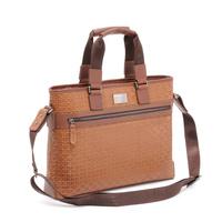 Free shipping for Aiwoo male fashion handbag genuine leather bag laptop bag notebook bag 12 14 15