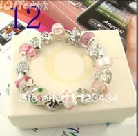 Fashion 925 sterling silver charm bracelet Chamilia crystal bracelet, free door-to-door delivery woman 925 silver bracele