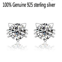 Wholesale 100% Genuine 925 sterling silver wedding earring fine jewelry GSJ40