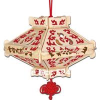 2015 New Promotion 5 pcs/lot Children Educational Gift popular handmade Lantern 8 decoration 3D diy wooden puzzle toys WJ0082