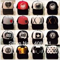 Net cap truck cap trucker hats hip-hop style hat cap hip-hop cap sun hat for men and women