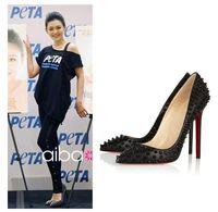 Free shipping!2013 women's fashion 11cm pointed toe high heels red bottom platform pumps sexy high heel rivets shoes JO 621-3