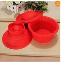hot!!!3pcs/set big top cupcake as seen on TV silicone bakeware/cake mold no box
