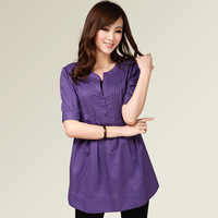 2013 plus size clothing summer mm clothes Large cs022 short-sleeve shirt