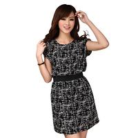 2013 summer short-sleeve top plus size fat man clothes short-sleeve slim plus size one-piece dress