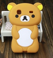 Free Shipping Lovely Cute 3D Cartoon Teddy  Bear Case Cover For Samsung Galaxy Gio S5660 Silicon Shell Cover Cell Phone Case