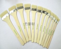 Free Shipping Pig Hair Pen Wool Paint Brush Wood Handle Paint Brush 12pcs/lot
