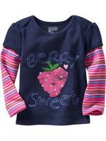 free shipping girl long sleeve autumn sweatshirts w/ strawberry print 5803B