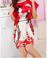 2013 Hot sale nightgown pajamas women's summer sleeveless silk nightgown sexy silk sleepwear Freeshipping JH-NS1
