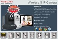 Free shipping Foscam FI9821W White New HD H.264 webcam Pan Tilt SD Card Ip camera white