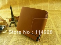 2013 bovis wallet fashion male wallet short design genuine leather cowhide folder  FREE SHIPPING