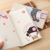 Stationery fashion small  notepad diary bookishness color page 16 book 4 kinds of style