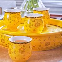 Top Jindezhen ceramic tea set Combination set of teapot and 6 cups