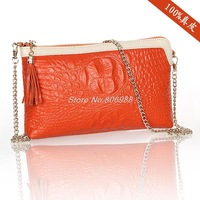 2013 summer latest crocodile leather clutch clutch bag diagonal handbags wholesale Korean fashion Free shipping