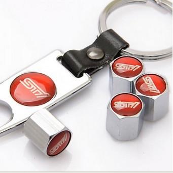 Free shipping 100pcs / lot Car Tyre Valve Caps 4pcs+wrench keychain w~885(Hong Kong)
