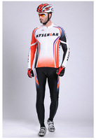 Free shipping Wholesale full Sleeve Cycling Jersey+(Bib) Shorts Bike Wear /Reflective strips,hot sale top grade  2018