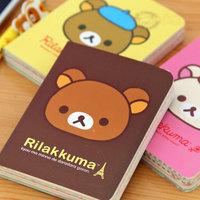 korea stationery relaxed bear fresh notebook cartoon notepad color page diary