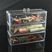 Free Shipping Fashion princess fancy dress box three layer jewelry box accessories storage box square Large cosmetics 173  Gift