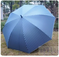 Stripe commercial umbrella plus size double umbrella carbon steel cytoskeleton quality umbrella automatic 8 umbrella