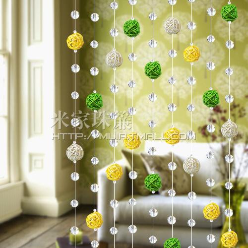 Haute qualit verre cristal rustique sepak takraw rideau for Rideau de porte d entree exterieure