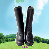 Free shipping Tank boots riding boots cowhide men's boots gaotong barreled fire boots leather