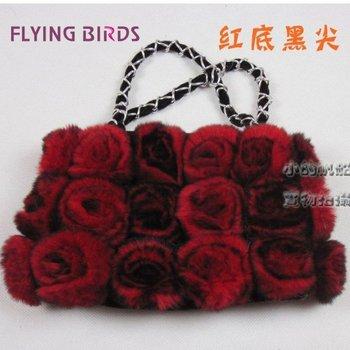 FLYING BIRDS 2012 Newest Design Winter Hot Fashion Ladies Rabbit Fur Handbag Elegant Chain Women Bag Wholesale HW247