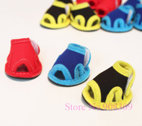 High Quality 4pcs Pet Dog Cat Footgear, Footwear, Non-slip Shoes, Paw Rubber Sole Sneaker, Red,Yellow,Blue Free Shipping+Gift