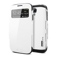 Free shipping SGP SPIGEN  Flip Cover Slim Armor View Automatic Sleep leather case for Samsung galaxy s4 i9500