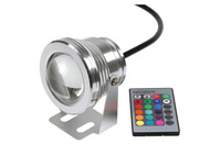 Free Shipping (10pcs/lot) 10W led underwater light, 12v underwater RGB Led Light  Waterproof IP68 fountain pool Lamp