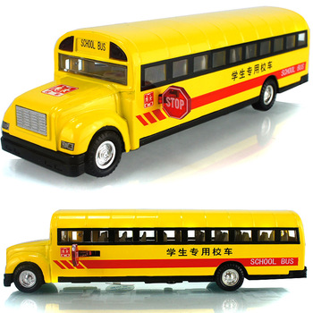 Classic school bus plain WARRIOR music alloy car model toy  toy