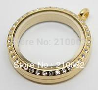 2014 Promotion Free Shipping Wholesale Tone Stainless Steel Floating Locket Gl-005 Memory Loeckts, Birthday Valentine's Gift