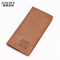 Male genuine leather long wallet design vertical cowhide male fashion male multi card holder wallet card case wallet