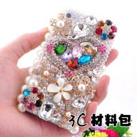 100% Handmade 3D Bling Luxury Crystal Colorful Special-shape Big Rhinestone  Flatback Mobile Case