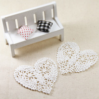 20 PCS/LOT 8.5CM*7.5CM Free Shipping LA142 High Quality DIY Hollow Out Embroidery Heart Shaped Venice Lace Applique Patch