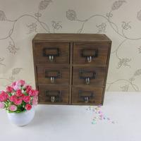 Drawer storage cabinet wood desktop  box drawer miscellaneously vintage  lockers cabinet