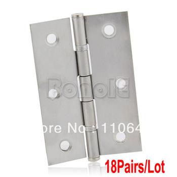 "18Pairs/Lot of 3"" (75mm) Chrome Satin Stainless Steel Ball Bearing Door Butt Hinges Door Hinge 15037"