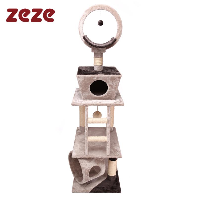 Beige small sun zeze cat climbing frame cat tree column cat toy pet supplies(China (Mainland))