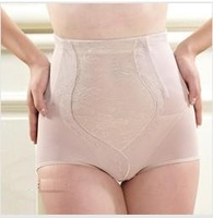 Plus size high waist shapewear panties sexy knickers slimming pants with bone not roll up corset body shaper Free shipping