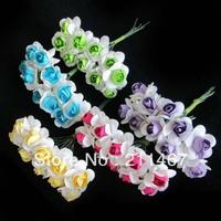 Free shipping Mini Mulberry Artificial Flowers DIY scrapbooking Flowers Wedding candy box Decor 100pcs/lot