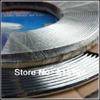 Free Shipping 1 Roll 6mm*15Meter Exterior Trim Molding Side Door Silver Strip auto car interior decoration moulding