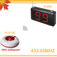 1Set 99 Zones LED display Hospital patient calling 99S w 10pcs Nurse calling buzzers free shipping free