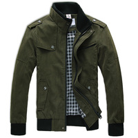Free Shipping!2013 Fashion Men's Jacket Tops,L-XL-XXL-XXXLArmy Green / Khaki/ Brown.British Style Maxi Size Mandarin Collar Coat