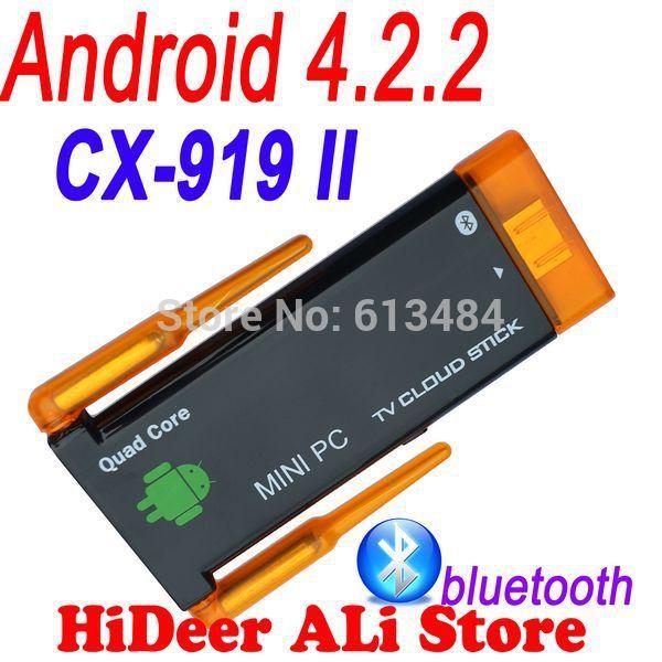 google tv stick CX-919II CX-919 II Dual WIFi antenna Stronger signal CX-919 Quad core android Mini PC 2GB RAM 8GB ROM(China (Mainland))