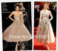 Primetime Emmy Awards- Red Carpet Arrivals Ball Gown Strapless Tulle Appliques Celebrity Dresses 2014
